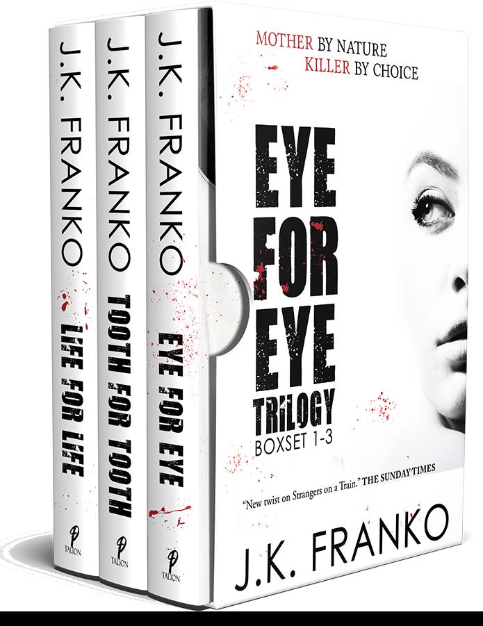 BOOK BLAST: EYE FOR EYE TRILOGY by JK Franko