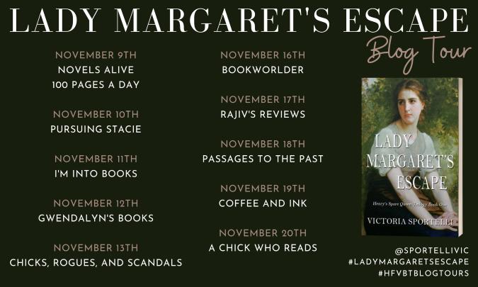 Lady Margaret's Escape_Blog Tour Banner