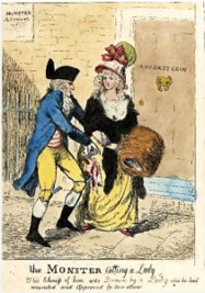 The Monster Killing a Lady