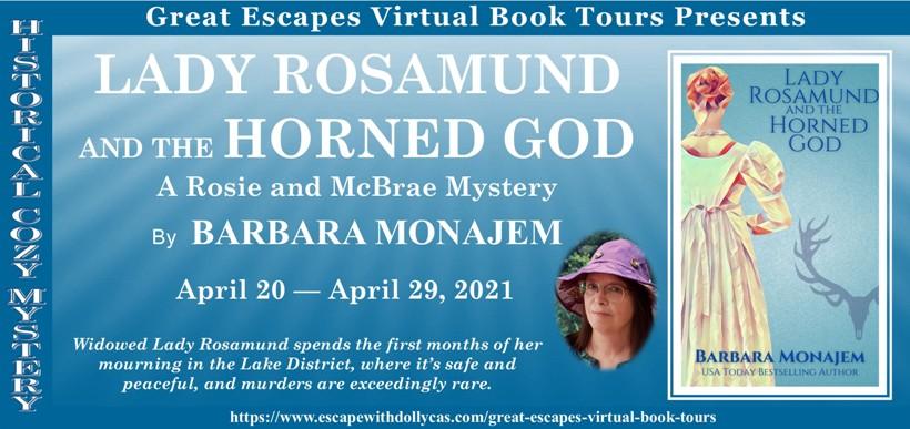 LADY ROSAMUND AND THE HORNED GOD BANNER 820