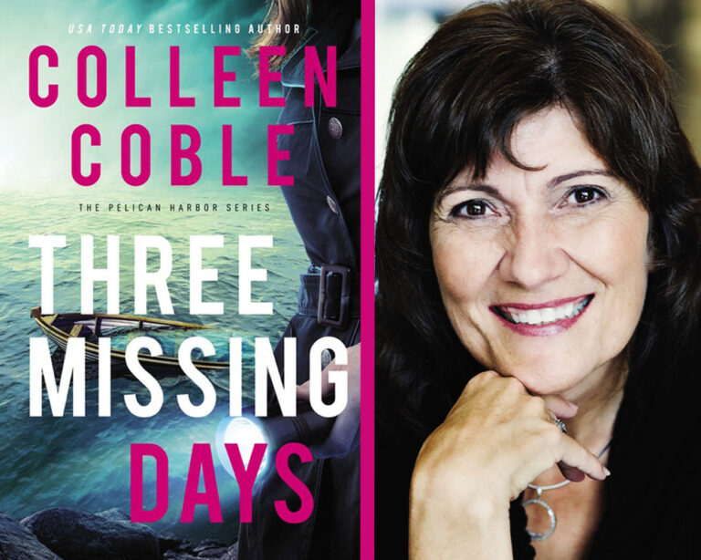 INTERVIEW:  Colleen Coble on THREE MISSING DAYS Plus Giveaway!